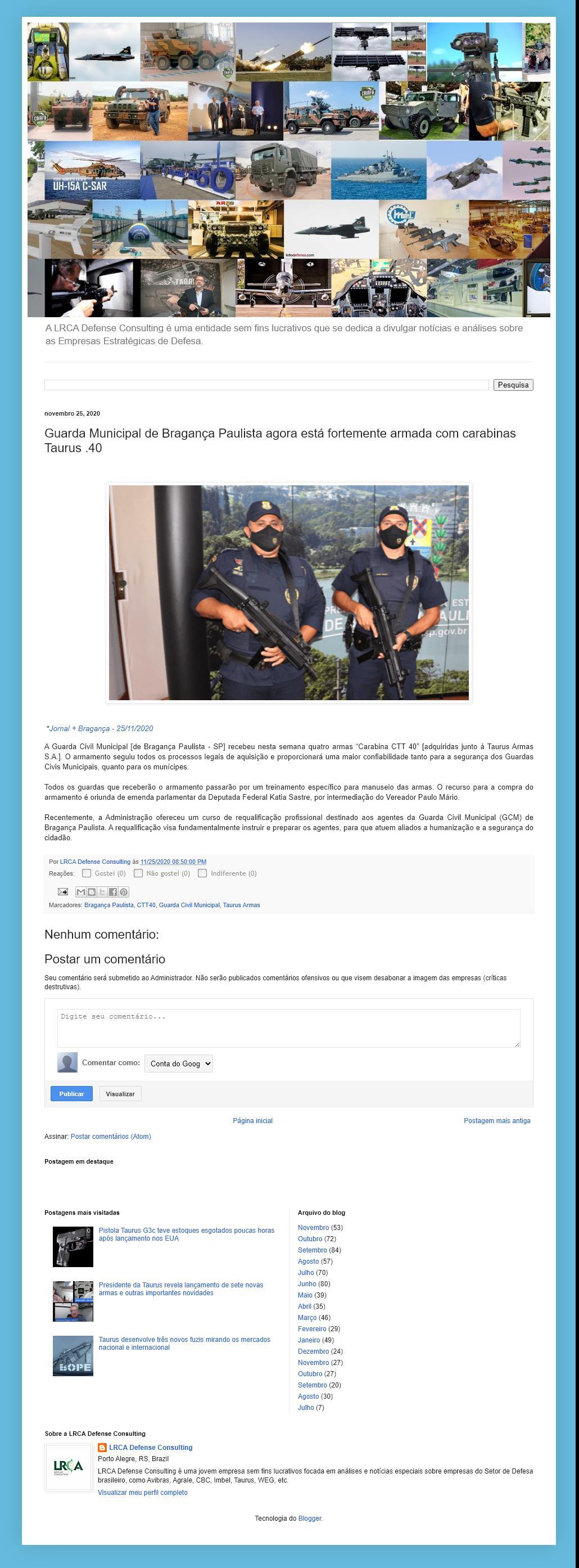 Guarda Municipal de Bragança Paulista agora está fortemente armada com carabinas Taurus .40