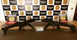 Policia Civil recebe submetralhadoras com apoio de empresários de Campos Novos