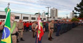 9º Batalhão de Bombeiros Militar de Canoinhas recebe solenidade