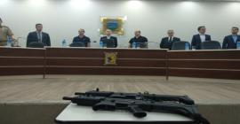 Polícia Civil recebe armas e viaturas em Guaramirim
