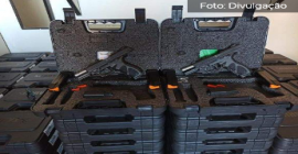 Guarda Municipal de Vitória recebe 230 pistolas para auxiliar trabalho de patrulhamento