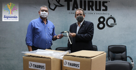 Prefeito Dr. Link recebe doação de mais de 600 máscaras de proteção da empresa Taurus