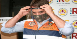 Defesa Civil do RS recebe doação de 10 mil máscaras de proteção facial