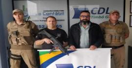 Polícia Civil de Timbó Grande compra Submetralhadora Taurus SMT.40