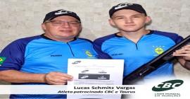 CBC e Taurus patrocinam o atleta de tiro Lucas Schmitz Vargas