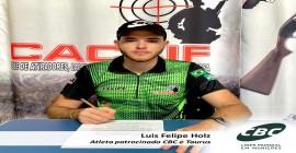 CBC e Taurus fecham parceria de patrocínio com atleta de tiro Luis Felipe Holz