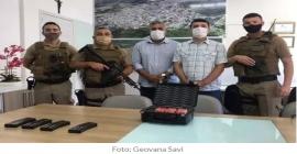 Polícia Militar de Siderópolis recebe armamento para reforçar a segurança do município