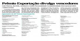 Prêmio Exportação divulga vencedores