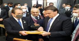 CEO Global da Taurus e reitor da Universidade de Caxias do Sul recebem presidente da República em abertura da 1ª Feira Brasileira do Grafeno